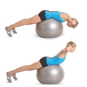Fordított felülés fitness labdán