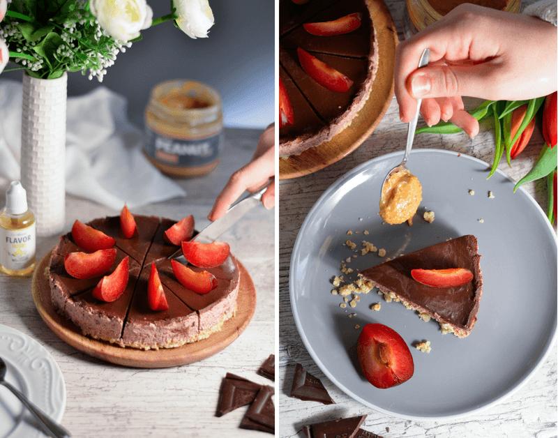 Egyszerű csokoládétorta sütés nélkül - fitness recept túróval