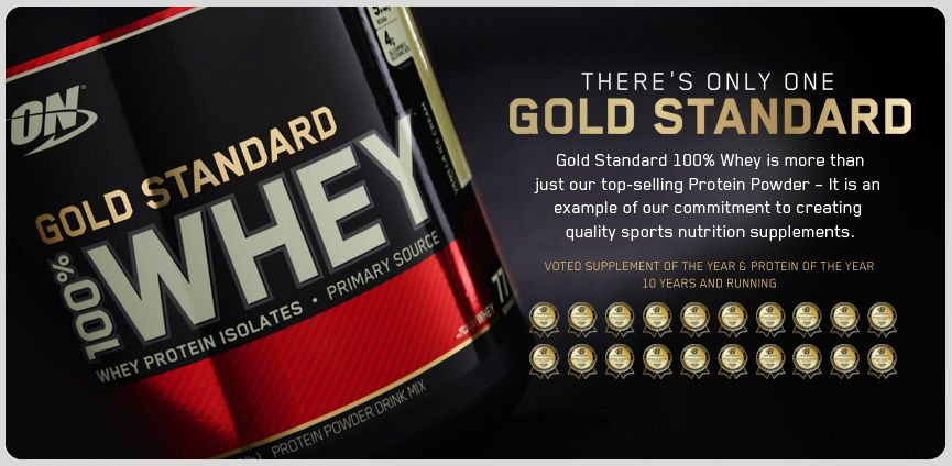 100% gold whey standard