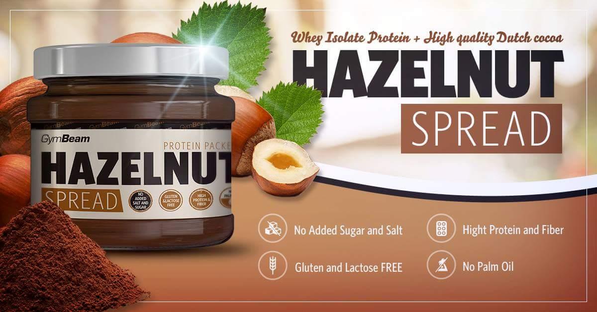 hazelnut spread gymbeam - fehérjetartalmú mogyoróvaj