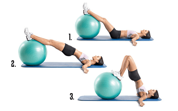 híd fitness labdán