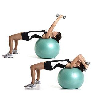 Tricepsz extenzió fitness labdán