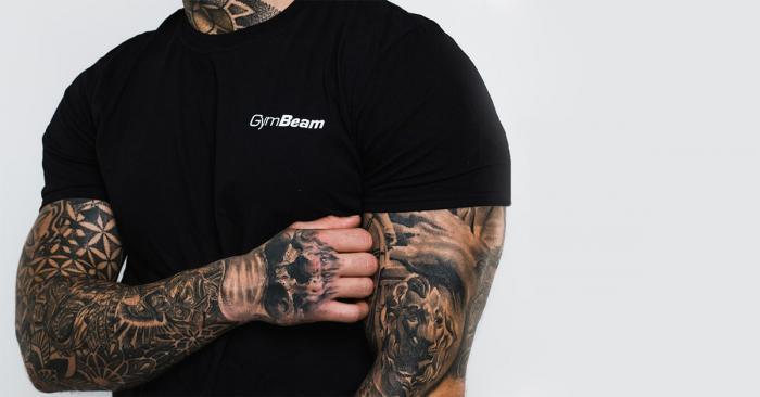 Basic Black póló - GymBeam