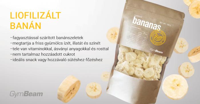 Liofolizált banán - GymBeam