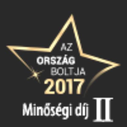 Ország Boltja 2017 Minőségi díj Sport és fitnesz kategória II. helyezett
